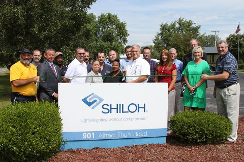 Shiloh Industries Green Ribbon cutting ceremony.