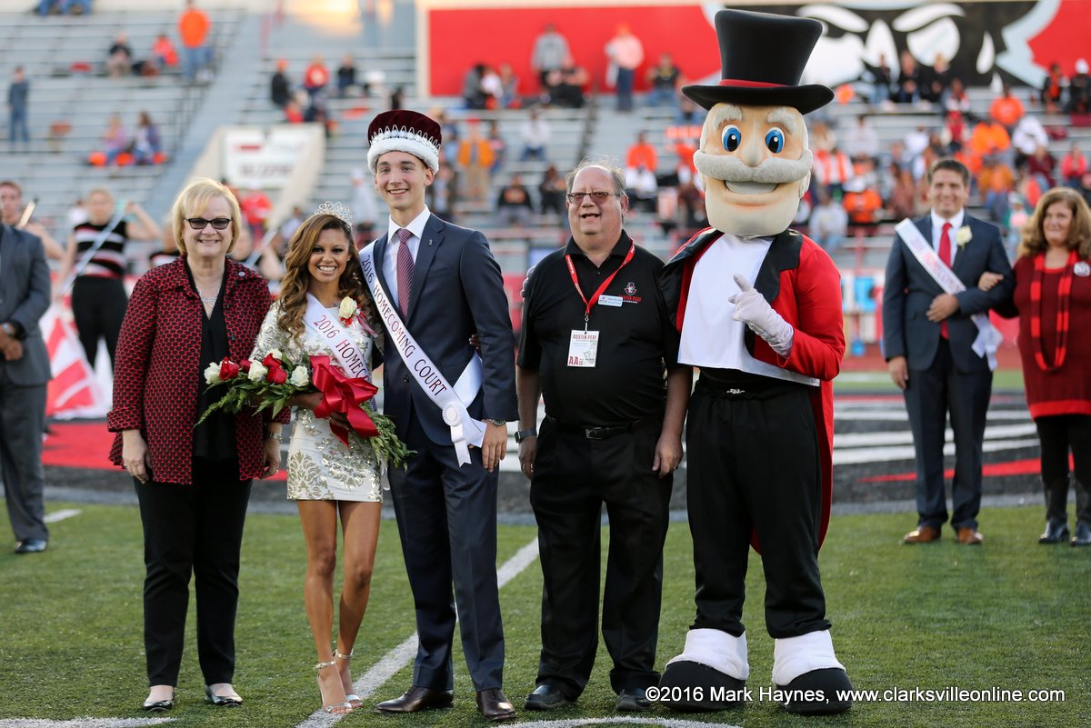 Ilyana Capellan was crowned APSU Homecoming Queen and Lane Chisenhall was crowned King Saturday at the APSU Football game against Mercer.