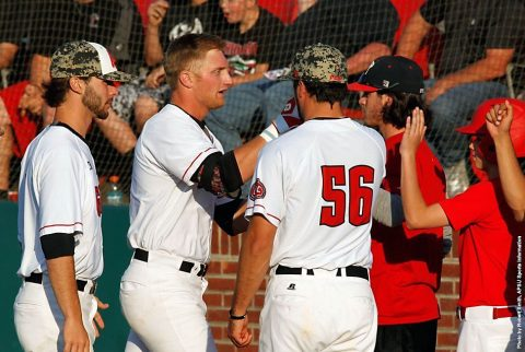 Austin Peay Baseball's Red Team beat the Black Team 14-9 Friday night in first game of the Red-Black World Series at Raymond C. Hand Park. (APSU Sports Information)