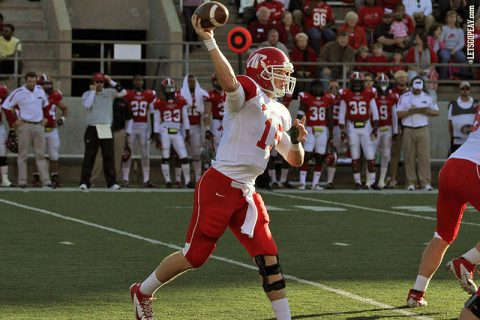 Austin Peay quarterback Jake Ryan completed 40 of 61 passes for 375 yards and 2 touchdowns against Jacksonville State on November 11th, 2012. (APSU Sports Information)