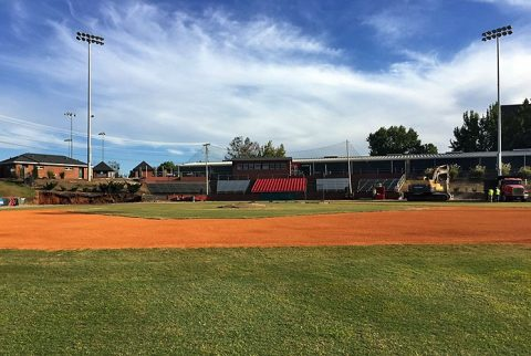 Austin Peay Athletics starts renovations of Raymond C. Hand Park's dugouts. (APSU Sports Information)