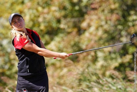 Austin Peay's Kelsey Schutt is tied for 6th after first day at Greystone. (APSU Sports Information)
