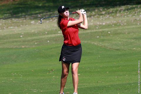 Austin Peay Women Golf's Morgan Kauffman has solid three rounds at MVC Preview. (APSU Sports Information)