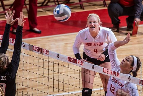 Austin Peay Volleyball falls at Belmont in five sets. (APSU Sports Information)