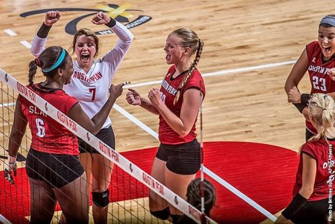 Austin Peay Volleyball rallies in last two sets to take down Southeast Missouri Saturday night. (APSU Sports Information)