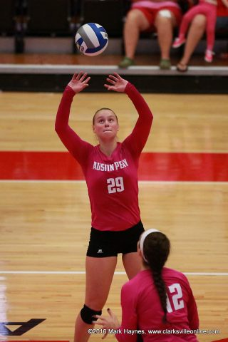 Austin Peay Volleyball setter Kristen Stucker