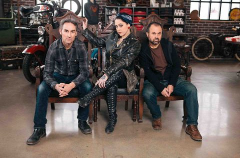 Mike Wolfe, Danielle Colby Cushman and Frank Fritz of American Pickers.