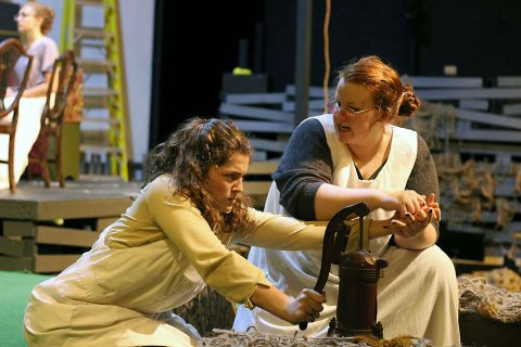 "Logan Wilkerson (Helen) on left. Addisyn Bryant (Annie) on right in ""The Miracle Worker"". (Barbara Wesner)"
