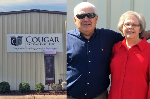Former Cougar Packaging owners Gerri and Larry Wallace.