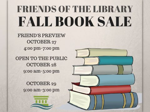 Friends of the Library Fall Book Sale begins Thursday, October 27th