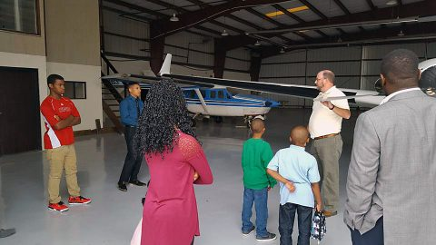 Leap Youth visit Clarksville Regional Airport.