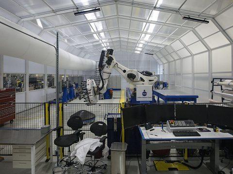 Air inside the ISAAC clean room is fully recirculated every two minutes, according to NASA Langley engineer Brian Stewart. (NASA/David C. Bowman)