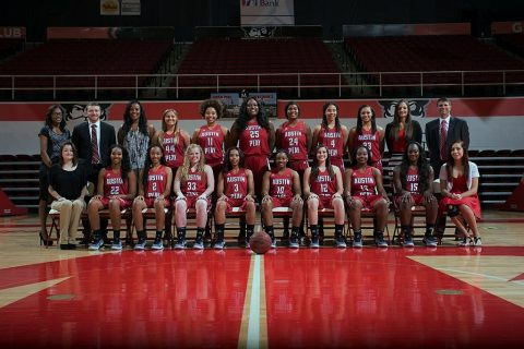2016-2017 APSU Women's Basketball Team