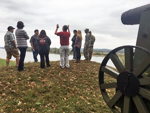 Austin Peay Students on a tour at Fort Donelson.