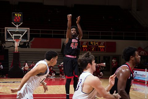 Austin Peay Basketball senior Kenny Jones scored 25 points Friday night against Sewanne. (APSU Sports Information)