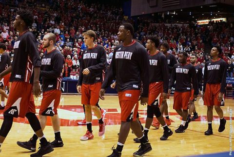 Austin Peay Men's Basketball lose season opener at Dayton Friday night. (APSU Sports Information)
