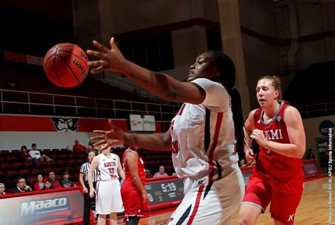 Austin Peay Women's Basketball senior Tearra Banks has 34 points in victory over Arkansas-Pine Bluff Monday night. (APSU Sports Information)