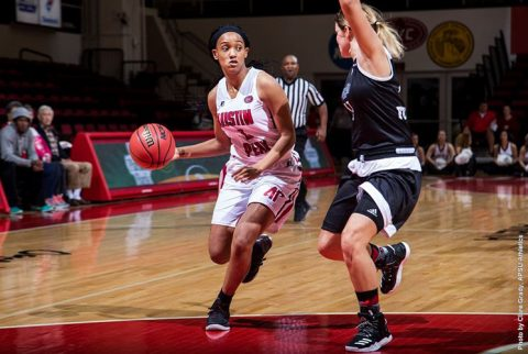 Austin Peay Women's Basketball loses to UCF Sunday afternoon at Thanksgiving Classic. (APSU Sports Information)