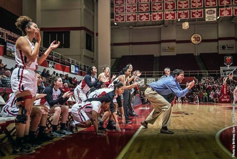 Austin Peay Women's Basketball gets 77-74 win over East Tennessee in final seconds Wednesday night at the Dunn Center. (APSU Sports Information)