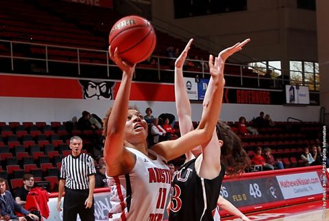 Austin Peay junior center Brianne Alexander scores career best 23 points in 76-57 victory over Christian Brothers Sunday. (APSU Sports Information)