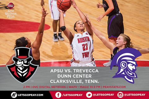 APSU Women's Basketball takes on Trevecca Saturday to finish homestand. (APSU Sports Information)