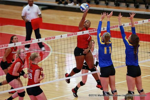 Austin Peay Volleyball's Logan Carger has career day in win over Morehead State Eagles at the Dunn Center Saturday.