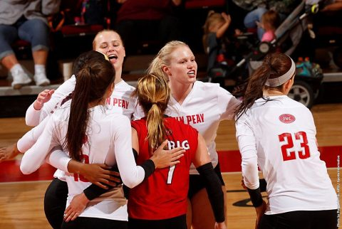 Austin Peay Volleyball kicks off OVC Tournament against Tennessee State, Thursday. (APSU Sports Information)