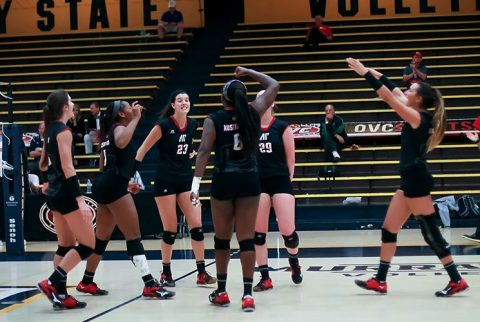 Austin Peay Volleyball falls to SIU Edwards in OVC Tournament semifinals. (APSU Sports Information)