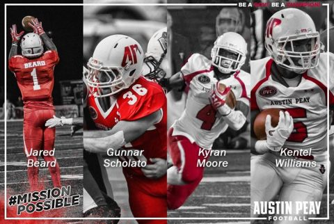 APSU has Four Football Players on All-OVC Postseason Teams