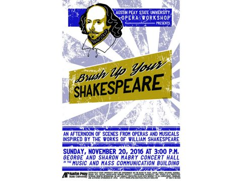 """Brush Up Your Shakespeare"" to be performed by APSU Opera Workshop"