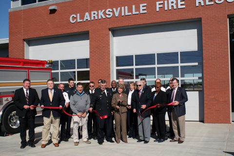 A ribbon cutting  ceremony was conducted at 10:00am Thursday, Nov. 10 at Clarksville Fire Rescue Station 11, 945 Tylertown Road. The station will open Nov. 29 and serve the rapidly growing area around Exit 1.