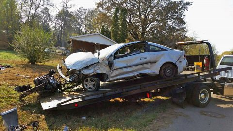 9-year old takes car for a joy ride, crashes and is ejected from the car on Eve Drive Sunday.