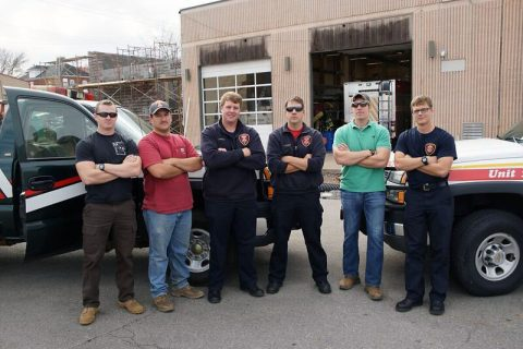 Members of Clarksville Fire Rescue departed for duty in East Tennessee Tuesday afternoon.