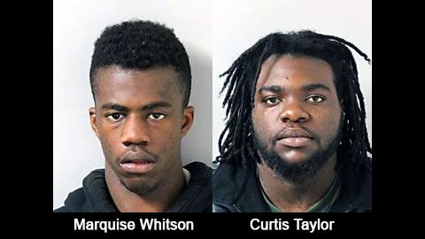 (L to R) Marquise Whitson and Curtis Taylor.