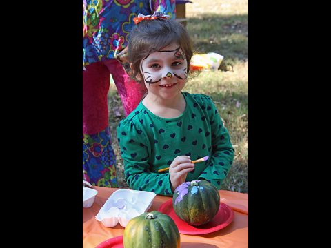 Pumpkin painting and face painting were just some of the events for kids at the VTC Harvestival.