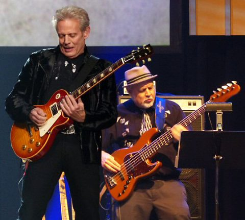 Don Felder seemed happy as he humbly accepted the honor in Nashville. (Rich Lynch)
