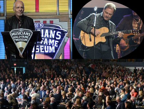 Peter Frampton, Steve Wariner and the VIP tables on the floor. (Rich Lynch)