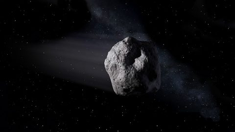 Artist's concept of a near-Earth object. (NASA/JPL-Caltech)