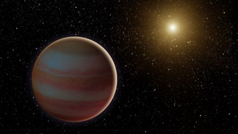 This illustration depicts a newly discovered brown dwarf, an object that weighs in somewhere between our solar system's most massive planet (Jupiter) and the least-massive known star. (NASA/JPL-Caltech)