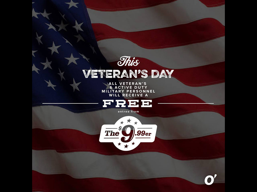 veterans day free meals 2018