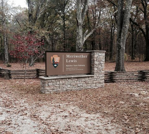 Meriwether Lewis Park along the Natchez Trace Parkway.