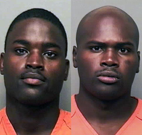 (L to R) Sgt. Jamal Williams-McCray and Spc. Charles Robinson have been charged with the disappearance of Pfc. Shadow McClaine.