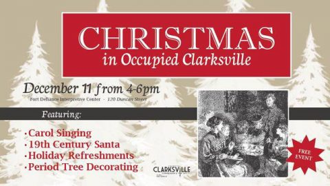 Christmas in Occupied Clarksville to be held December 11th, 2016.