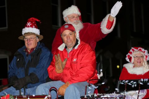 Santa Claus and Mrs. Claus in the 56th Annual Clarksville Lighted Christmas Parade held Saturday.