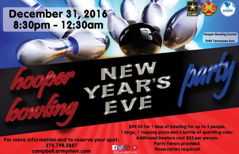 2016 Hooper Bowling Center New Year's Eve Party