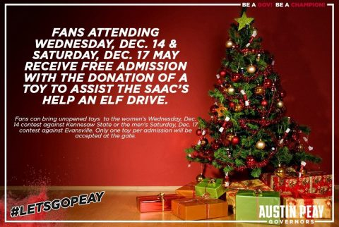 APSU Athletics offering free admission in Help An Elf drive
