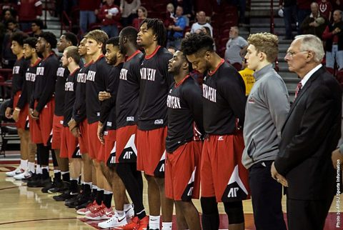 Austin Peay Men's Basketball falls to Arkansas 99-62 Saturday night at bud Walton Arena. (APSU Sports Information)