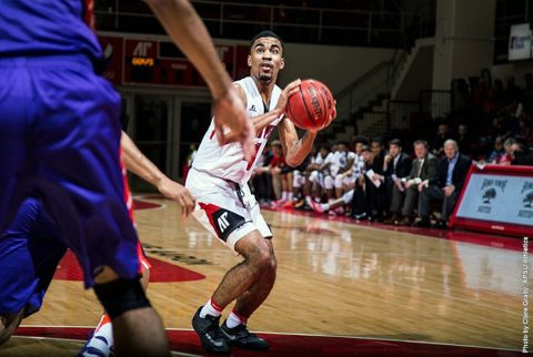 Austin Peay Men's Basketball loses to Evansville at the Dunn Center 77-69. (APSU Sports Information)