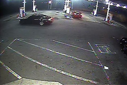 Clarksville Police are looking for the occupants of the dark vehicle in this photo. They may have information about this incident. CPD wishes to speak with them.
