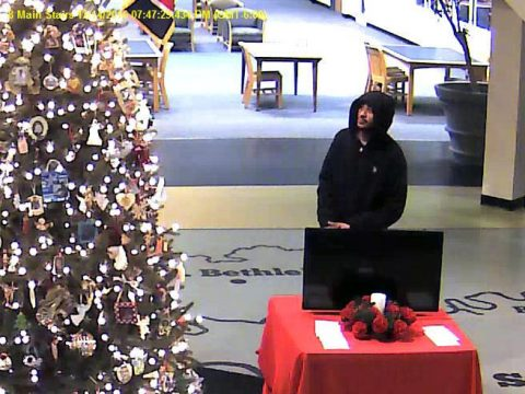 Clarksville Police are trying to identify the person in this photo. If anyone can identify the suspect, please call Detective Beaubien at 931.648.0656 Ext 5145, or call the CrimeStoppers TIPS Hotline at 931.645.TIPS (8477).